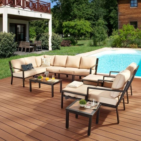 X-Back 12-Piece Patio Sofa Set