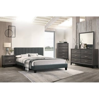 Link to Fabric Vertical Tufting Upholstered Plateform Bed Similar Items in Bedroom Furniture