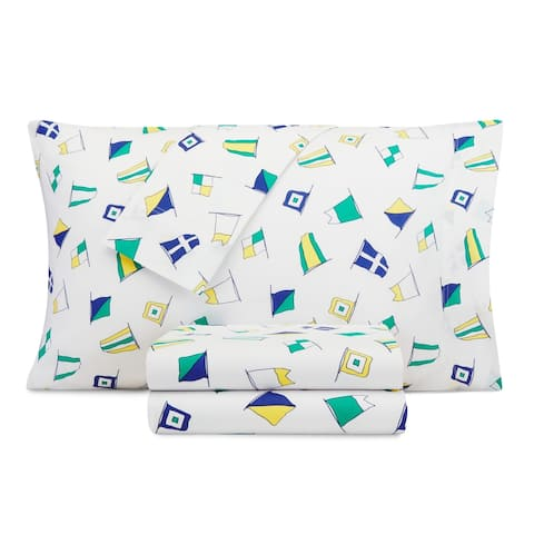 Nautica Kids Sail Flags Cotton-Rich Sheet Set