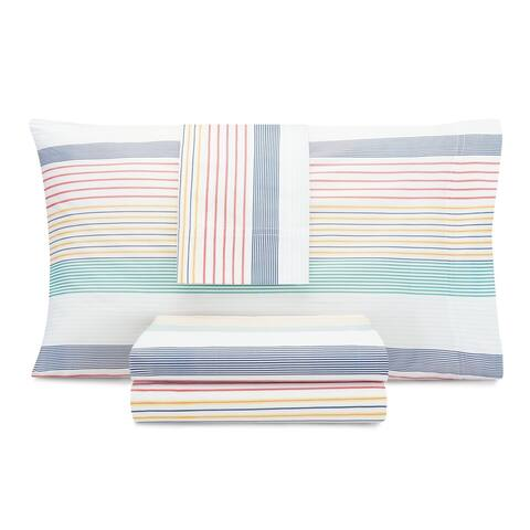 Nautica Kids Preppy Stripe Cotton-Rich Sheet Set