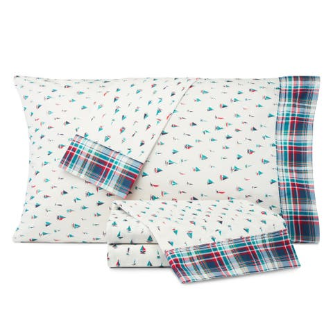 Nautica Kids Come Sail Away Cotton-Rich Sheet Set