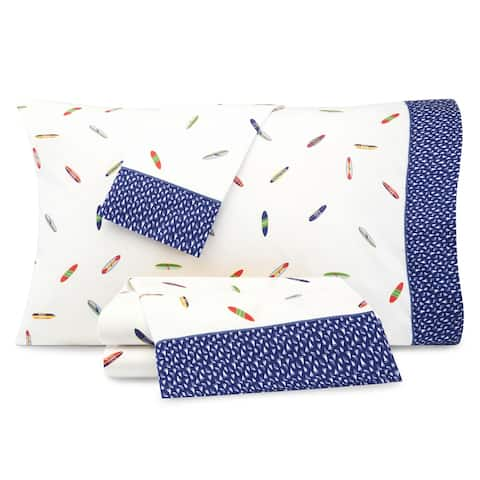 Nautica Kids Surfboards Cotton-Rich Sheet Set