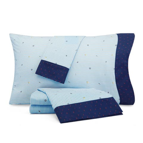 Nautica Kids Stripes at Sea Cotton-Rich Sheet Set