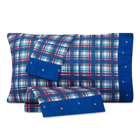 Nautica Kids Nautical Plaid Cotton-Rich Sheet Set