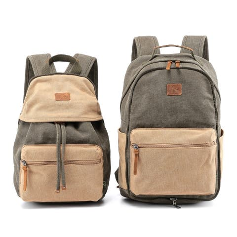 TSD Brand Trail and Tree Canvas Double Backpack