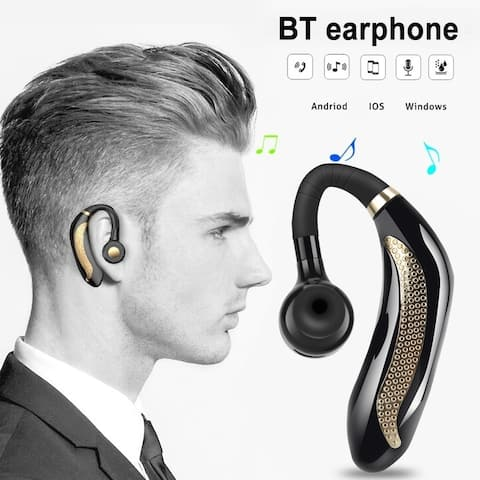 Wireless Headset Bluetooth 5.0 Headphone Handsfree Earbuds Headphone Headset with Microphone Stereo Earphone