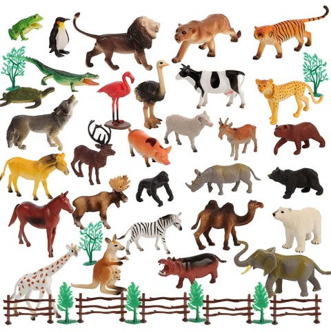 Migration 50 Piece Set of Animal 6 Inch Plastic Figures