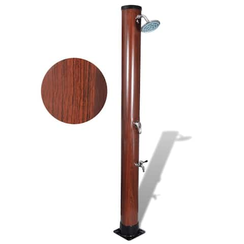 7 ft Pool Solar Shower with Faux Wood Finish