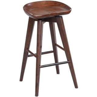 Link to Contoured Seat Wooden Frame Swivel Barstool with Angled Legs, Natural Brown Similar Items in Dining Room & Bar Furniture