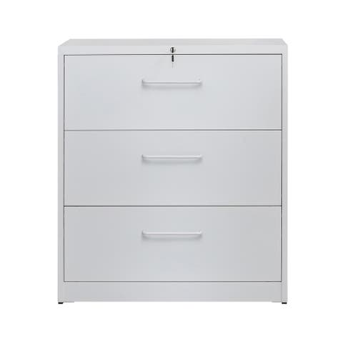 Merax 3 Drawers Lateral File Cabinet