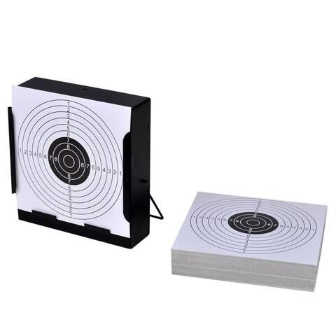 """5.5"""" Square Target Holder Pellet Trap + 100 Paper Targets"""