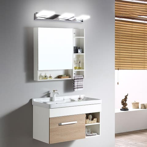Household 9W Three Lamps Bathroom Sconces Lighting White Light