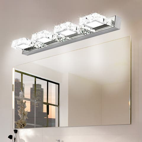 12W Four Lamps Crystal Surface Bathroom Lighting Bedroom Sconces