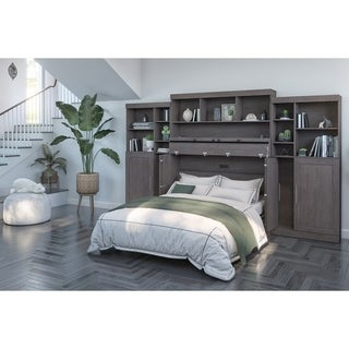 Link to Bestar Pur Cabinet Bed with Hutch and Two Storage Units Similar Items in Bedroom Furniture