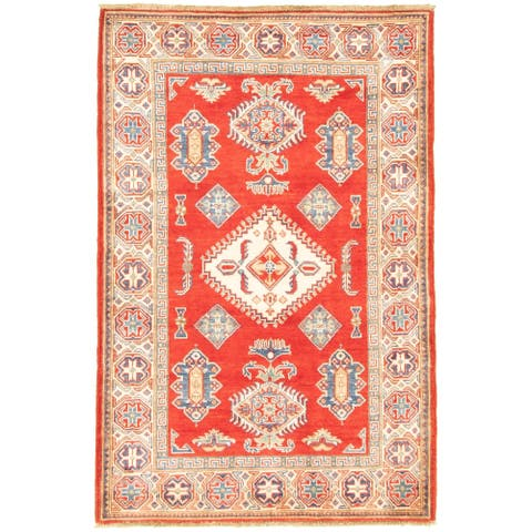 Hand-knotted Finest Gazni Red Wool Rug