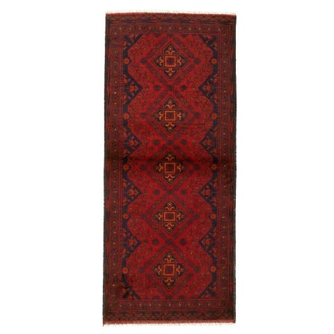 Hand-knotted Finest Khal Mohammadi Red Wool Rug