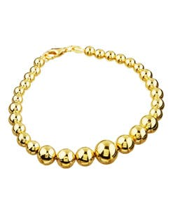 14K Gold over Sterling Silver 7-inch Graduated Bead Bracelet|https://ak1.ostkcdn.com/images/products/3112172/Sterling-Essentials-14K-Gold-over-Sterling-Silver-7-inch-Graduated-Bead-Bracelet-P11241912.jpg?impolicy=medium
