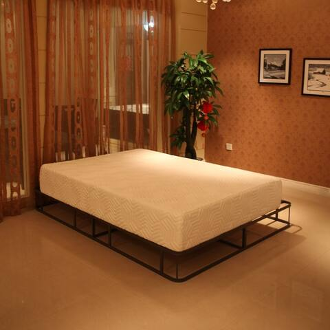 "10"" Three Layers Cool Medium High Softness Cotton Mattress w/2 Pillows"