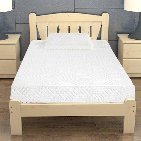 "8"" Three Layers Cool Medium High Softness Cotton Mattress Twin size"