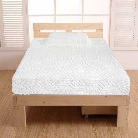 """10"""" Two Layers Traditional High Softness Cotton Mattress w/ 2 Pillows"""