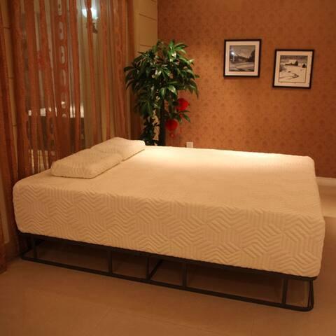 "14"" Three Layers Medium High Softness Cotton Mattress w/ 2 Pillows"