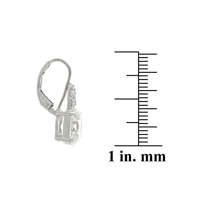 Icz Stonez Sterling Silver CZ Leverback Earrings