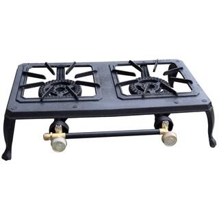 Buffalo Tools Double Burner Portable Cast Iron Stove