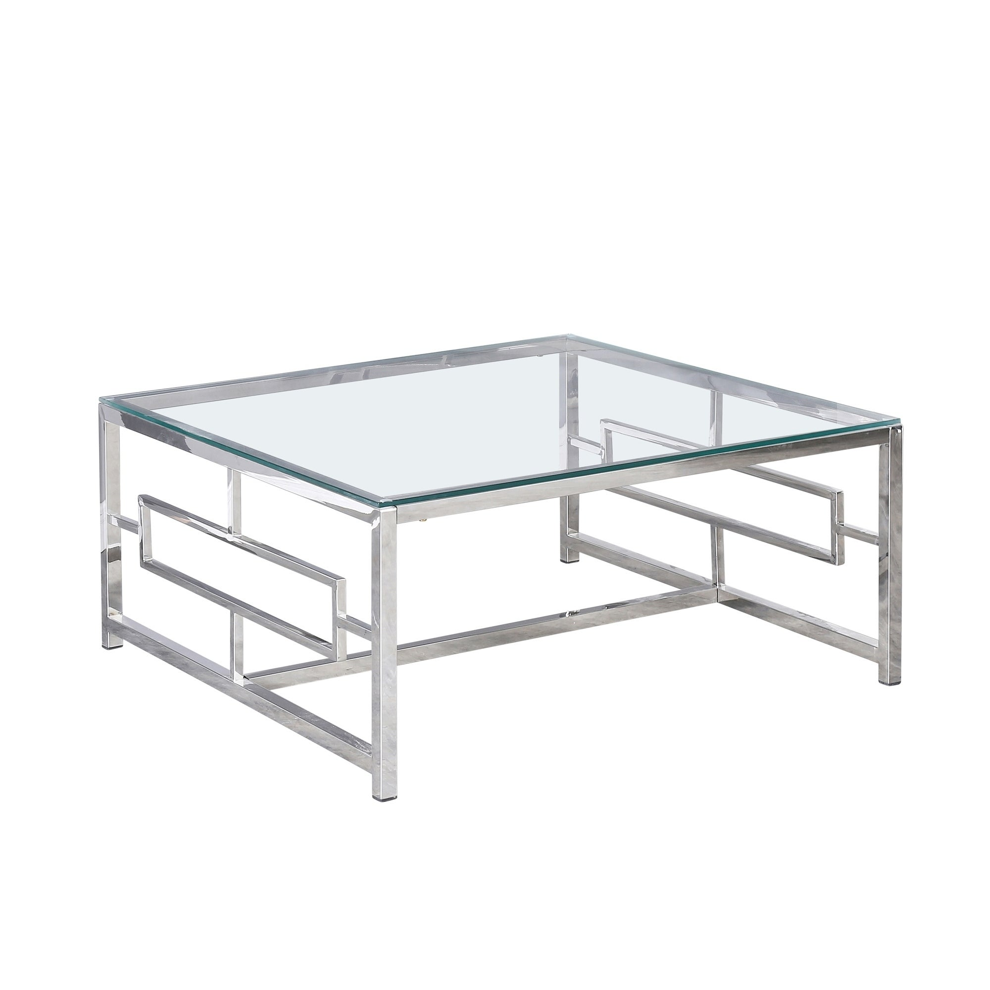 Shop Metal 34 Box Frame Coffee Table Silver Overstock 31124815
