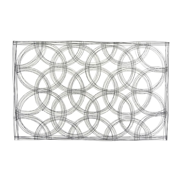 "Metal 43"" Abstract Wall Decor, Black Wb. Opens flyout."