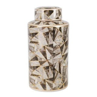 """Link to Ceramic 16"""" Covered Jar, Abstract, Multi Similar Items in Accent Pieces"""