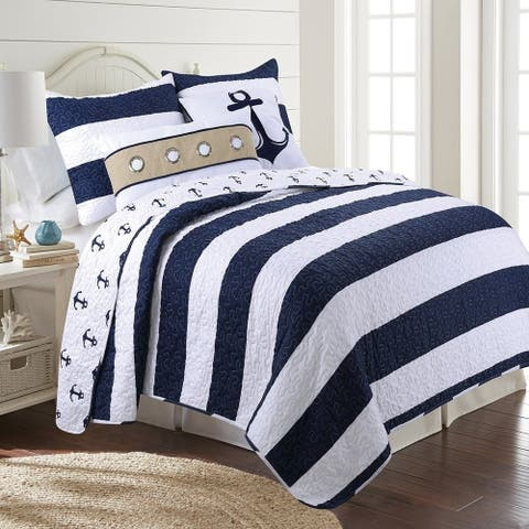 Hallie Reversible Ultra-Soft Microfiber Quilt Set