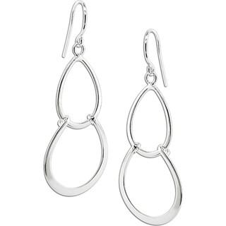 Miadora Sterling-silver Drop Earrings with Shepherd's Hook Backs