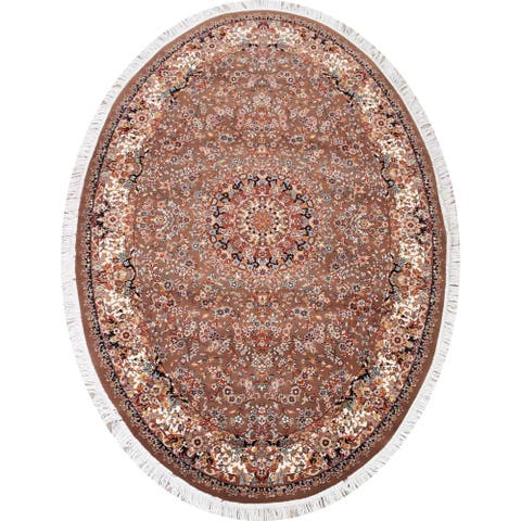 "Stunning Brown Floral Tabriz Area Rug Home Decor Carpet - 4'11"" x 7'2"""