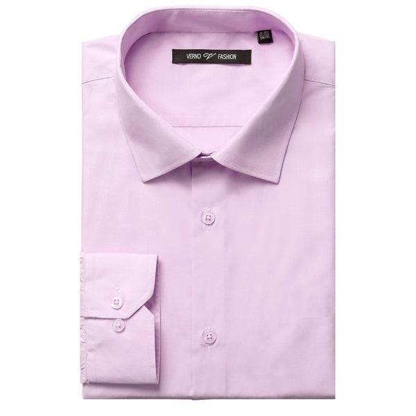 Mens Classic Fit Spread Collar Long Sleeve Dress Shirt