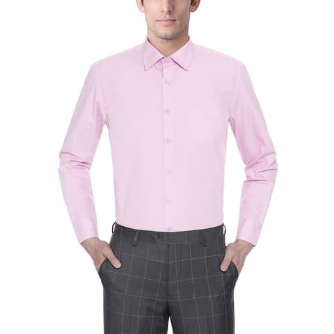Mens Classic Fit Spread Collar Long Sleeve Dress Shirt