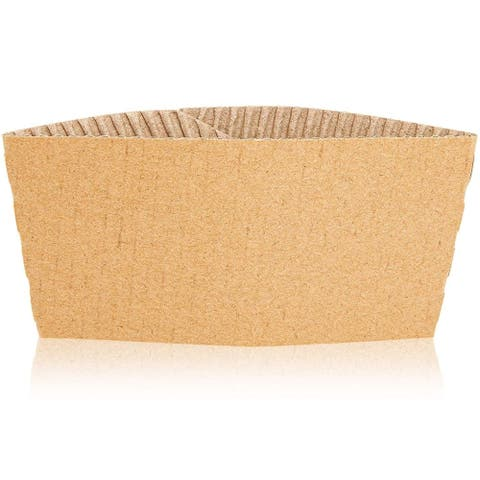 200x Hot Coffee Cup Sleeve Holder Jackets, Corrugated Paper, 3.15 inch Diamater