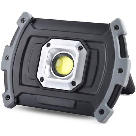 Illushine LED Work Light, 10W 1500 Lumen Rechargeable Work Lights, Portable COB Flood Lights - Black