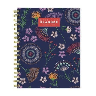 Link to July 2020-June 2021 7x9 Best Life Daily Weekly Monthly Luxe Floral Stitches Hardcover Planner Similar Items in Planners & Accessories