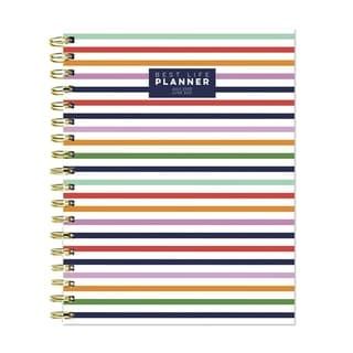 Link to July 2020-June 2021 7x9 Best Life Daily Weekly Monthly Luxe Preppy Stripe Hardcover Planner Similar Items in Planners & Accessories