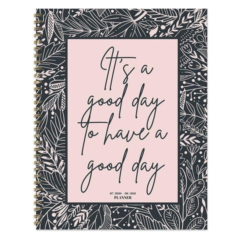 July 2020-June 2021 Large Daily Weekly Monthly Good Day Spiral Planner with Stickers