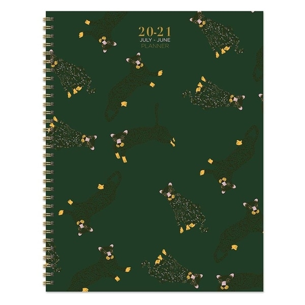 July 2020-June 2021 8.5x11 Large Daily Weekly Monthly Lots of Leopards Spiral Planner with Stickers. Opens flyout.