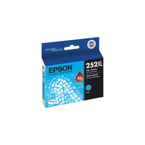 Epson T252XL220S DURABrite Ultra Ink 252XL Ink Cartridge - Cyan - 8' x 11'