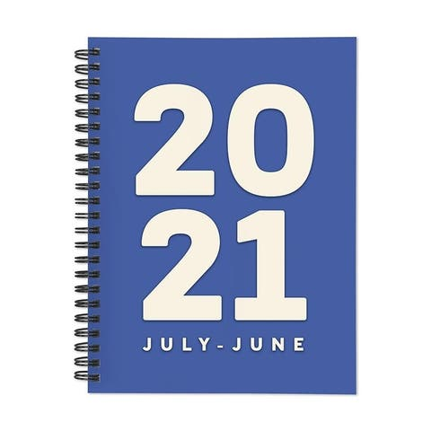 July 2020-June 2021 6x8 Medium Daily Weekly Monthly Blue For You Spiral Planner with Sickers