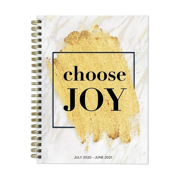 July 2020-June 2021 6x8 Medium Daily Weekly Monthly Choose Joy Spiral Planner with Stickers. Opens flyout.