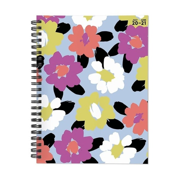July 2020-June 2021 6x8 Medium Daily Weekly Monthly Floral Print Spiral Planner with Stickers. Opens flyout.