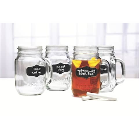 Mason jar Mugs with Chalkboard - 17.5 oz