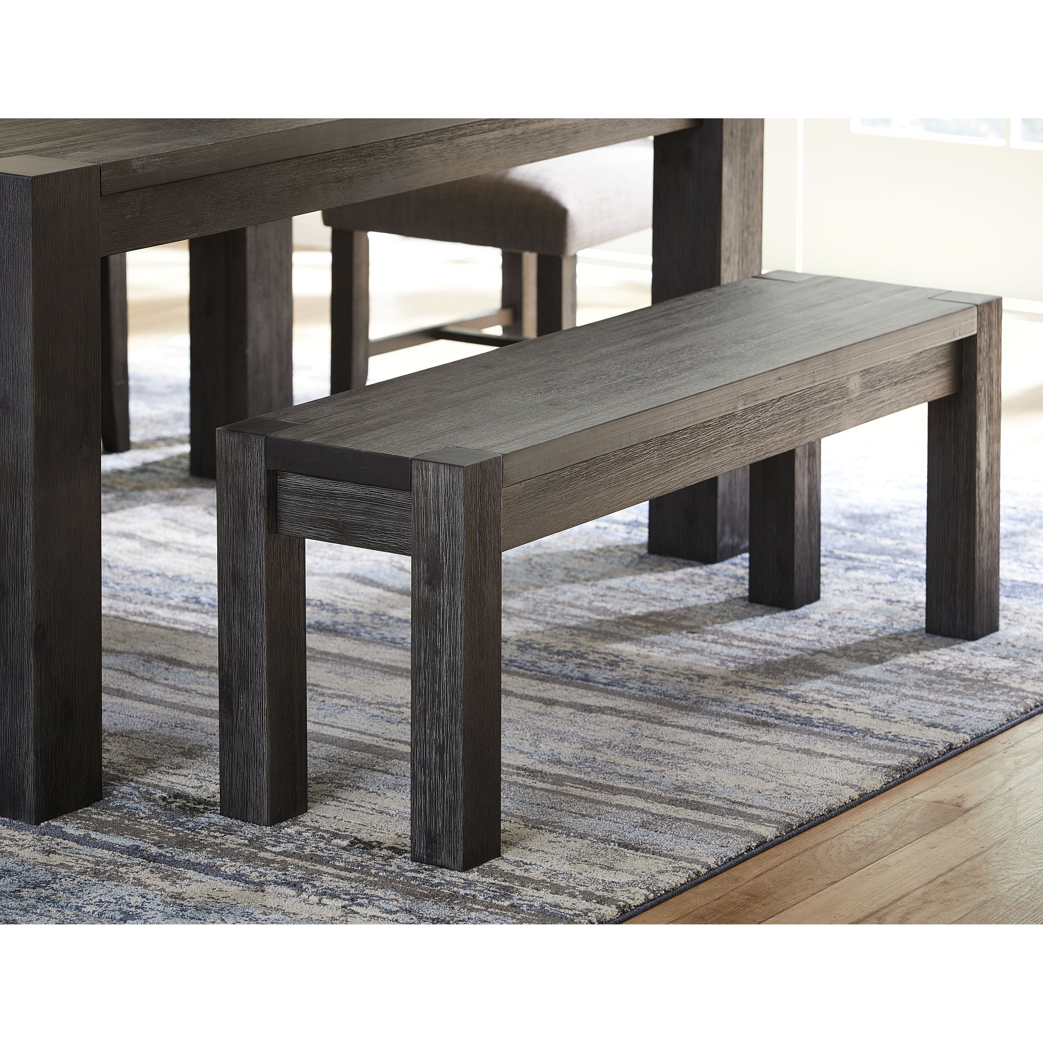Meadow Solid Wood Bench In Graphite Overstock 31128454