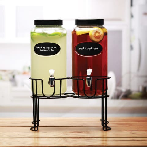 Dumont Set of 2 Dispensers with Chalkboard