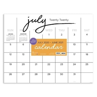 Link to July 2020-June 2021 22x17 Black And White Script Large Monthly Desk Pad Blotter Similar Items in Planners & Accessories
