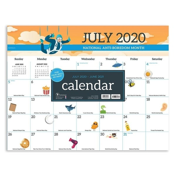 July 2020-June 2021 22x17 Every Day's A Holiday Large Monthly Desk Pad Calendar. Opens flyout.